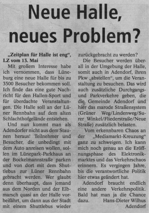 Neue Halle, neues Problem?