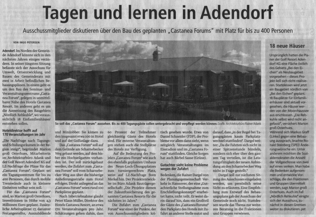 Tagen und lernen in Adendorf