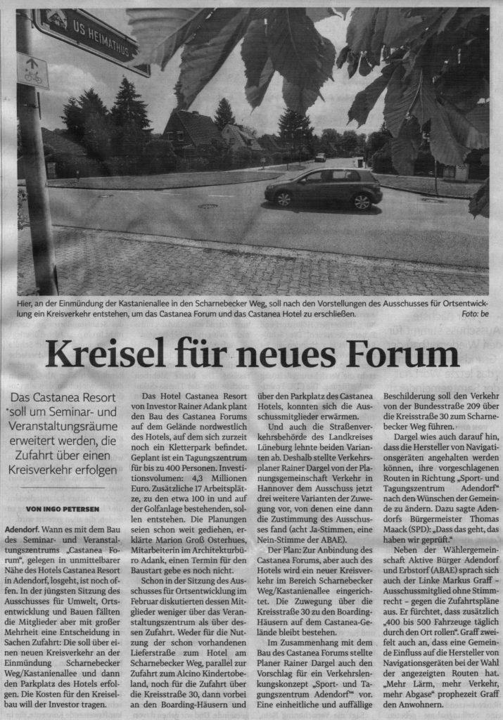 Kreisel für neues Forum