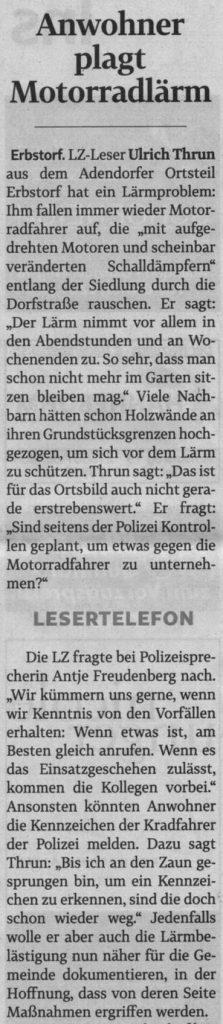Anwohner plagt Motorradlärm