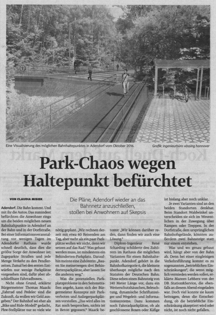Park-Chaos wegen Haltepunkt befürchtet