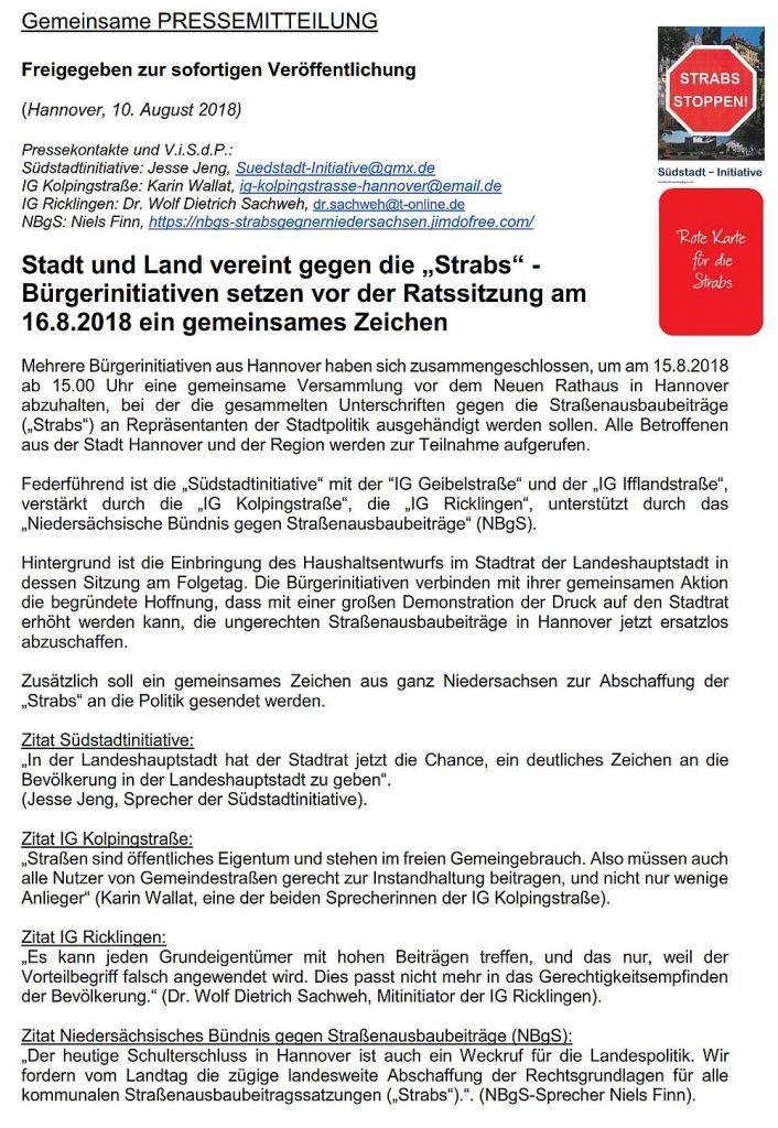 """Stadt und Land vereint gegen die """"Strabs"""""""