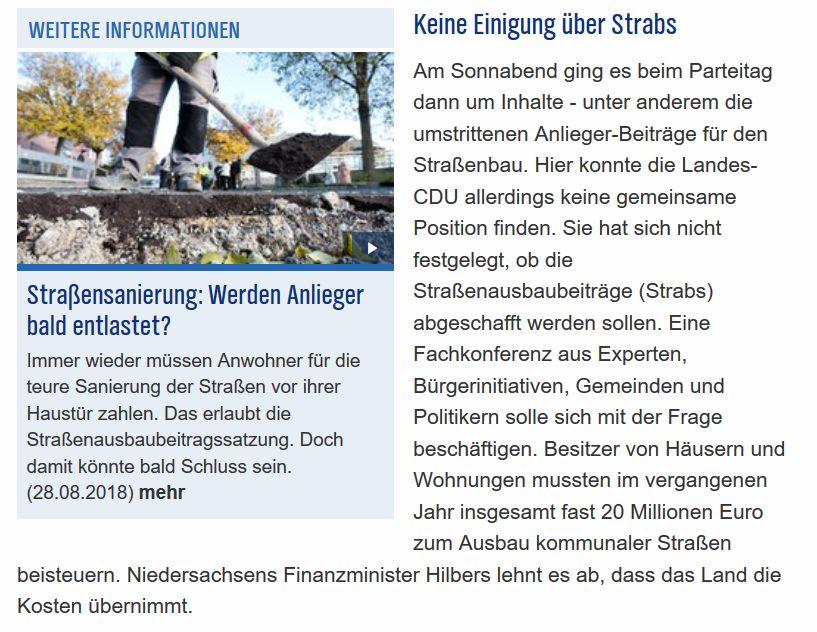 Info aus dem Landtag/CDU