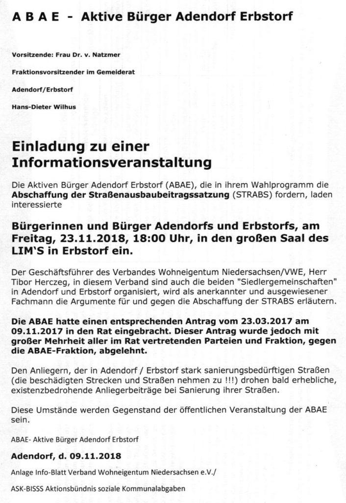 ABAE - Einladung zu einer Informationsveranstaltung