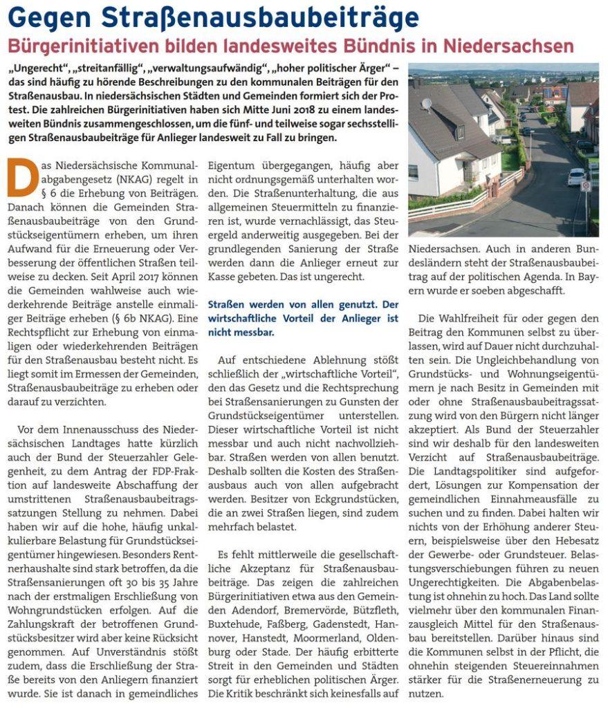Gegen Straßenausbaubeiträge