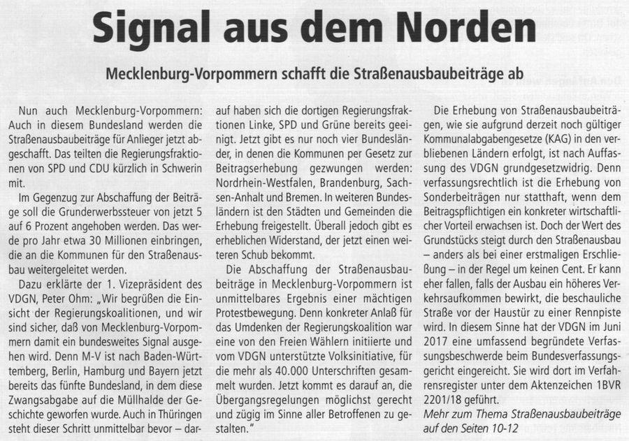 Signal aus dem Norden