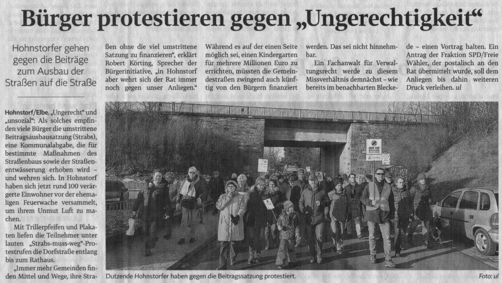 """Bürger protestieren gegen """"Ungerechtigkeit"""""""