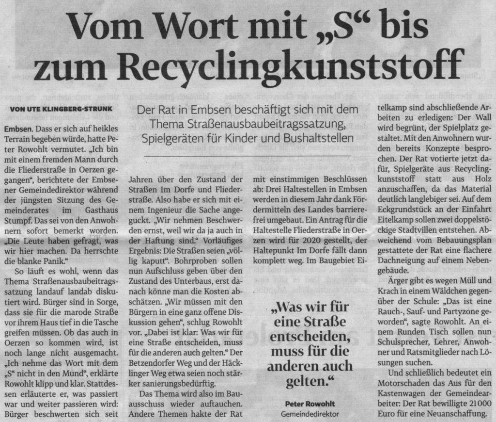 """Vom Wort mit """"S"""" bis zum Recyclingkunststoff"""