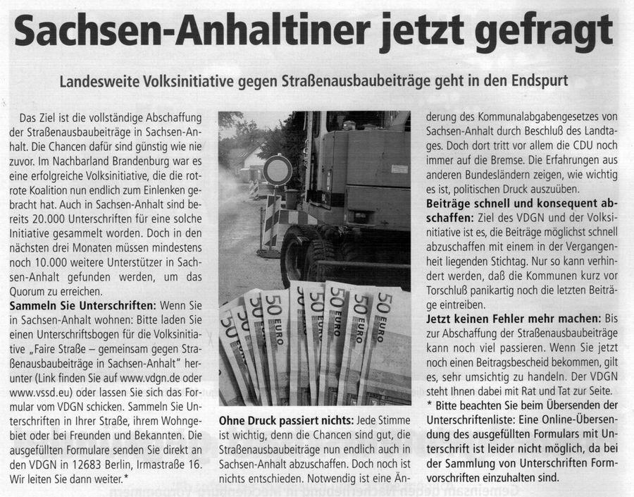 Sachsen-Anhaltiner jetzt gefragt
