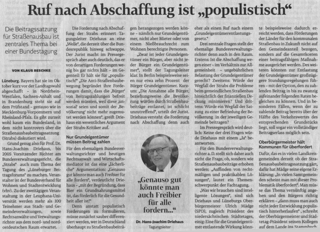 """Ruf nach Abschaffung ist """"populistisch"""""""