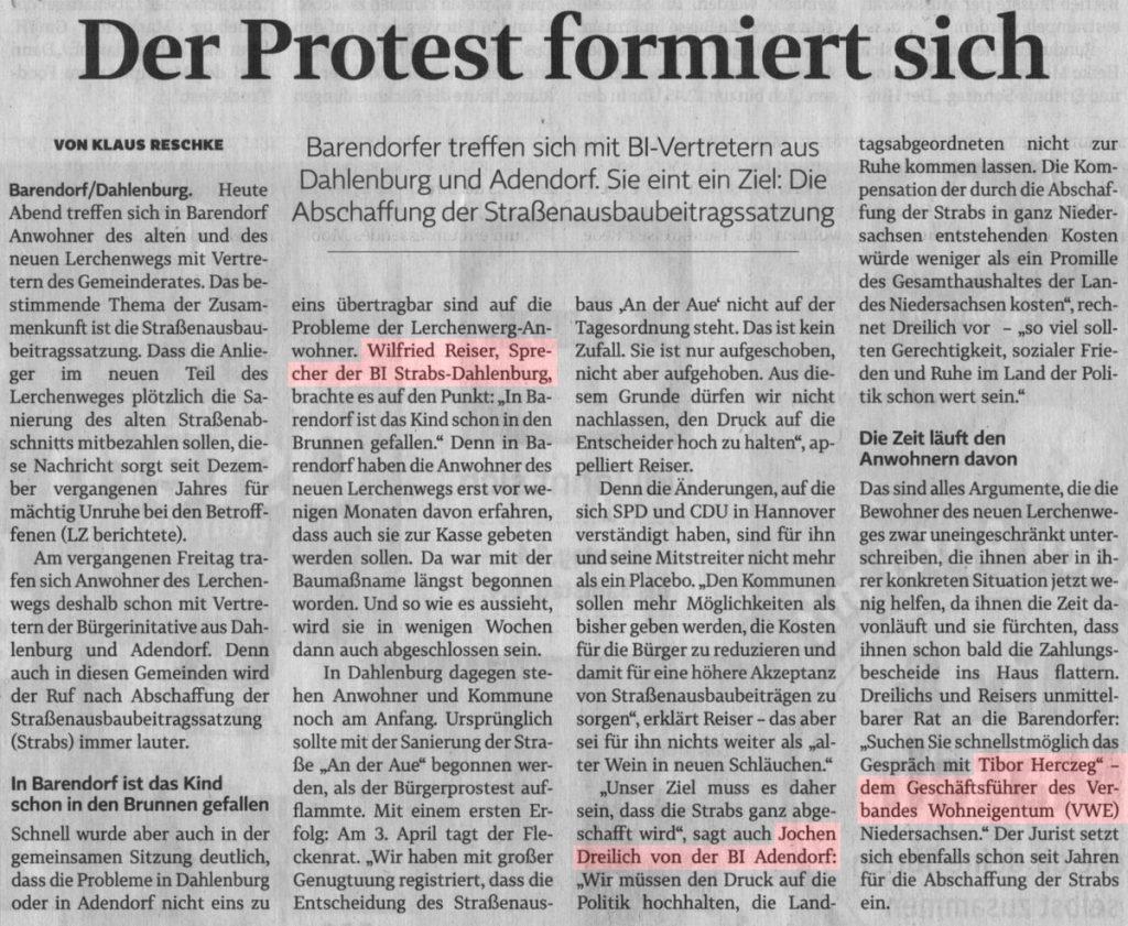 Der Protest formiert sich