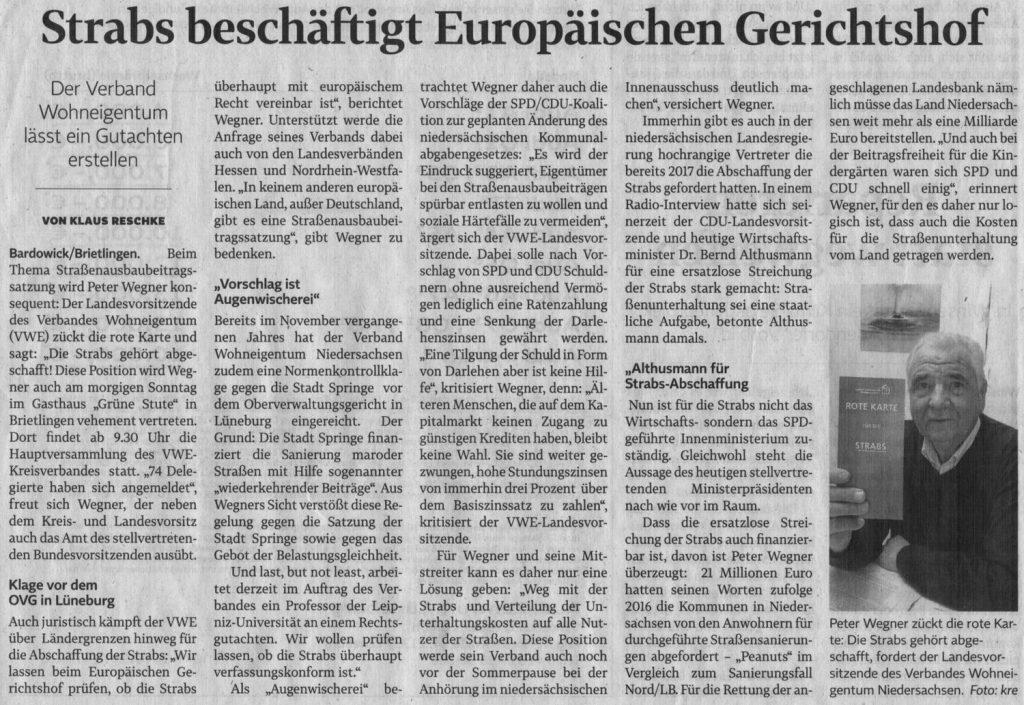 Strabs beschäftigt Europäischen Gerichtshof