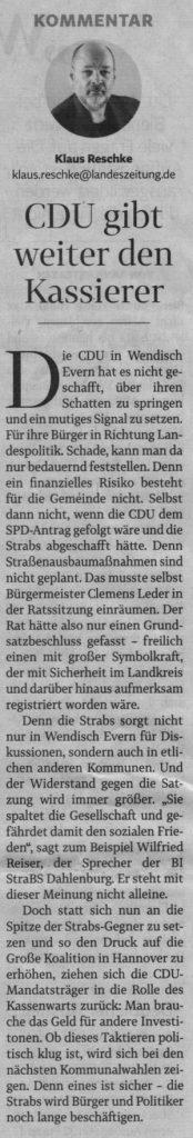 CDU gibt weiter den Kassierer