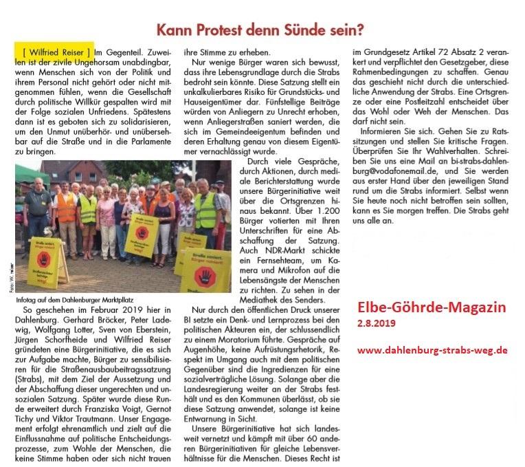 Kann Protest denn Sünde sein?