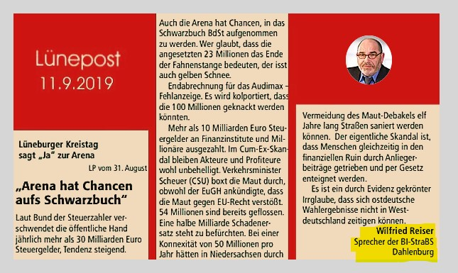"""""""Arena hat Chancen aufs Schwarzbuch"""""""