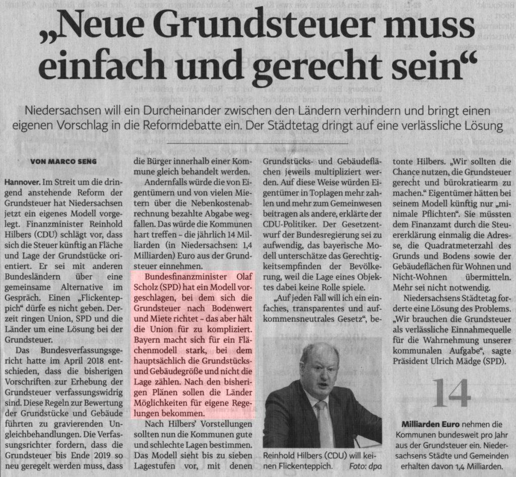 """""""Neue Grundsteuer muss einfach und gerecht sein"""""""