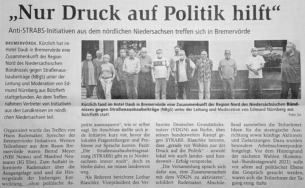 """""""Nur Druck auf Politik hilft"""""""