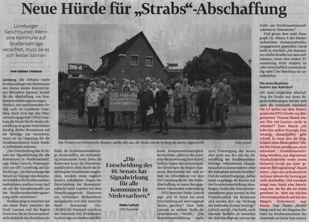 """Neue Hürde für """"Strabs""""-Abschaffung"""